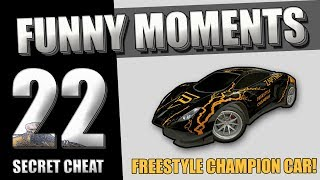 Rocket League Funny Moments (☞゚∀゚)☞ #22 (Freestyle Champion Car Edition)