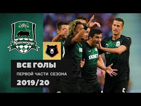 Все голы ФК «Краснодар» в первой части сезона РПЛ 2019/20
