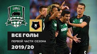 Все голы ФК «Краснодар» в первой части сезона РПЛ 201920