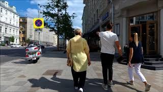 москва. Прогулка по Тверской улице от Триумфальной площади до Пушкинской 17.06.2018