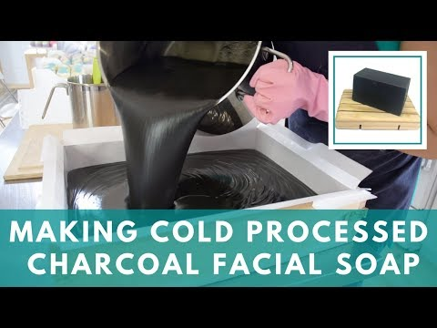 Making Activated Charcoal Facial Soap