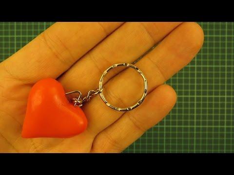 Брелок сердечко для ключей