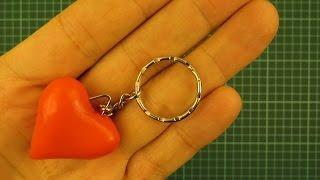 Как сделать брелки сердечко своими руками на 8 марта / How to Make a Heart Key Chain