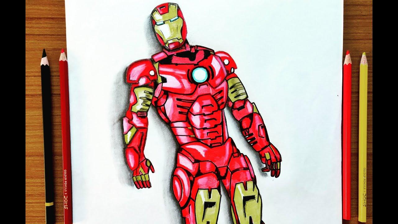 Iron Man Mark 3 Drawing Iron Man How To Draw Iron Man Youtube