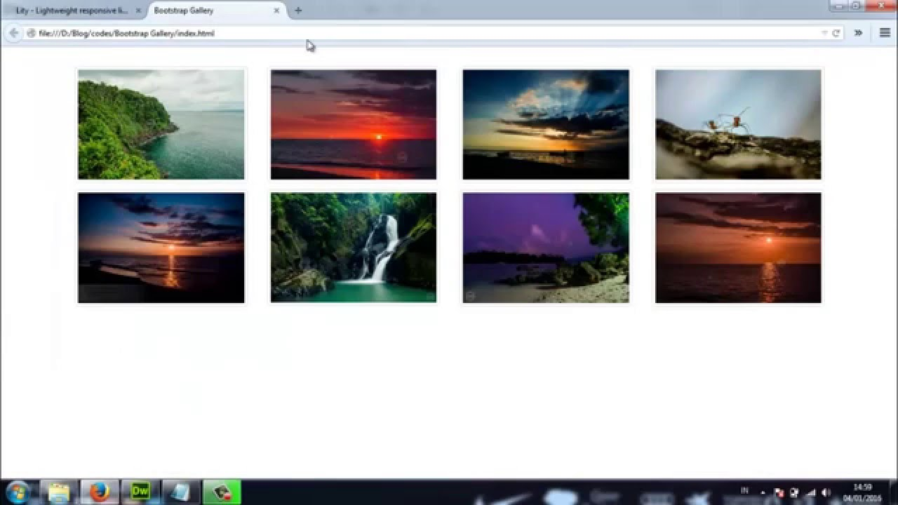 Twitter Bootstrap : How to Create a Responsive Lightbox Photo Gallery