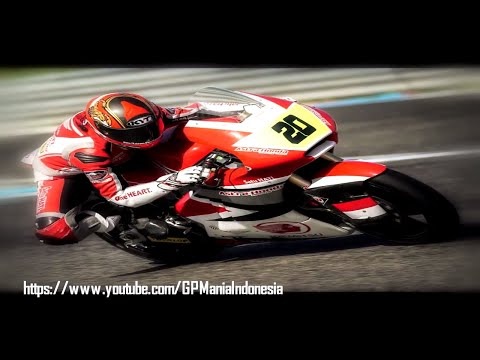 Aksi Dimas Ekky Pratama Moto2 2018 Portugal Moto2 CEV Seri 1