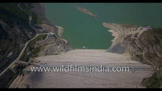 Tehri Dam aerial view - Himalayan blunder or catchment that saved Rishikesh in Uttarakhand Floods? thumbnail