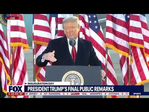 'I Will See You Soon' : Trump's Send Off Message At Joint Base Andrews   NewsNOW from FOX