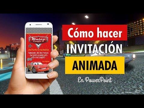 Cómo Hacer Video Invitación De Cars En Powerpoint Efecto Confetti