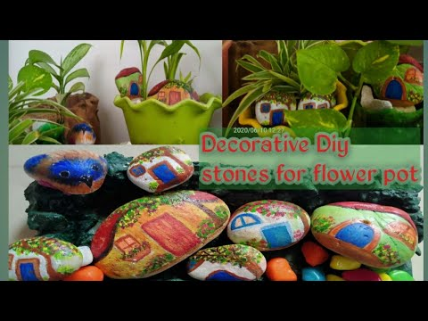 PAINTING STONE // EASY STONE PAINTING IDEAS // STONE ART // EASY STONE PAINTING FOR GARDEN // DIY