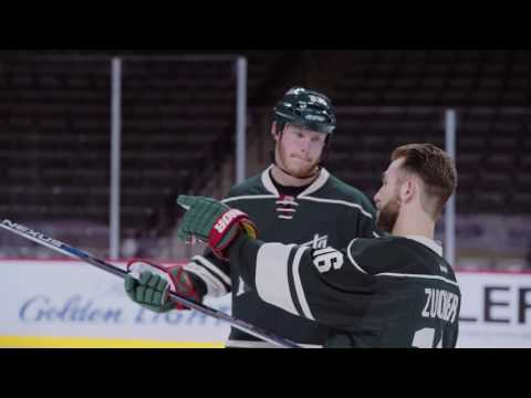 FULL VIDEO: NFL's Kyle Rudolph Laces Up with NHL's Jason Zucker
