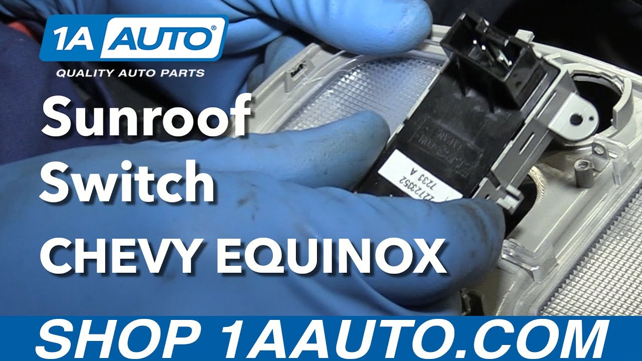 hight resolution of how to replace sunroof switch 05 09 chevy equinox