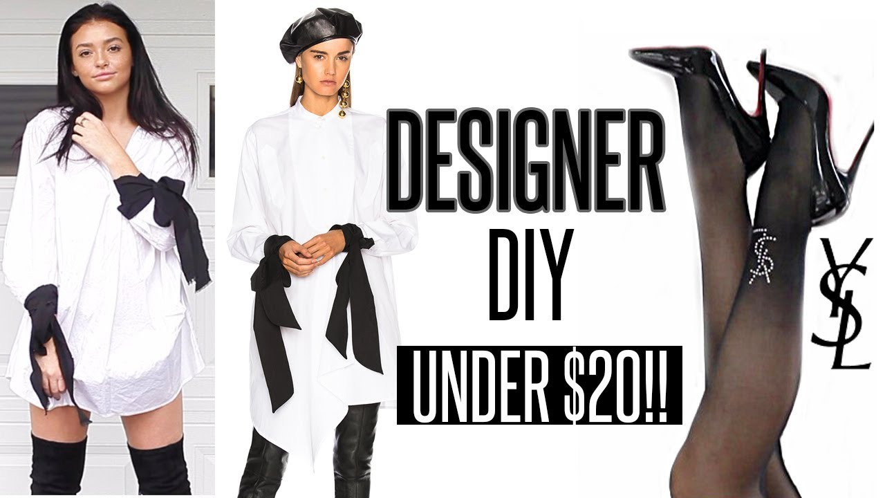 e660ccb6 HOW TO MAKE DESIGNER CLOTHES UNDER $20!! | DIY & Try-On!