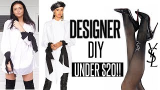 HOW TO MAKE DESIGNER CLOTHES UNDER $20!! | DIY & Try-On!