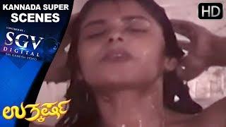 Kannada Hot Movie - Uthakrasha  | Devaraj gets inside girls bathroom | Kannada Scenes Love Scenes