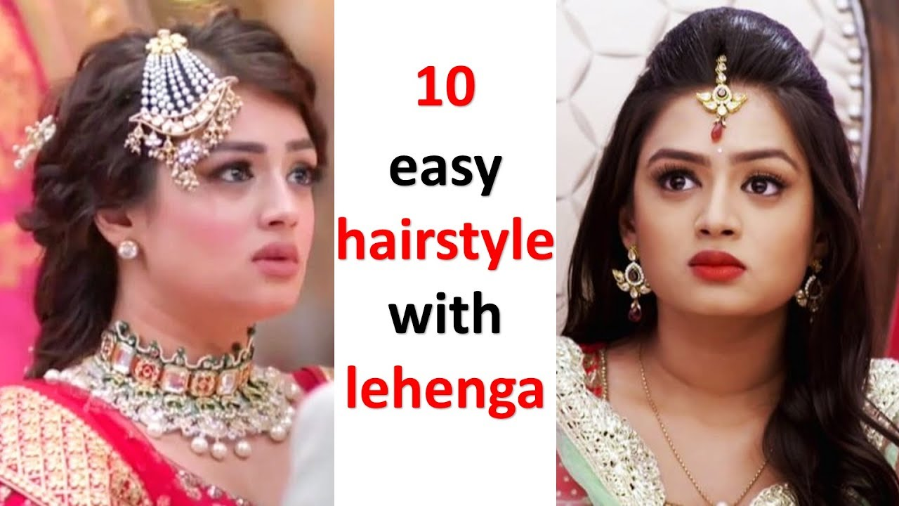 10 Different And Easy Hairstyles With Lehenga Party Hairstyles Wedding Hairstyles Hairstyle Youtube
