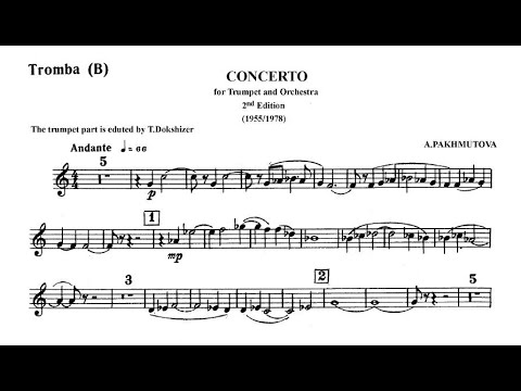 ♫♬ Timofei Dokshizer : Pakhmutova - Concerto for trumpet and Orchestra [Sheet music]