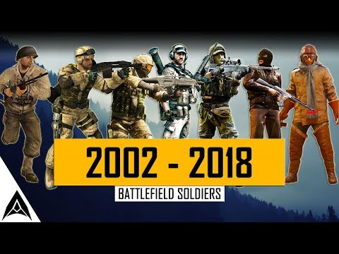 Soldier Evolution in Battlefield Games - BF1942 to BF1 (2002-2018)