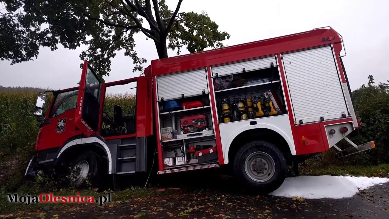 23.09.2017 Biskupice – wypadek strażaków