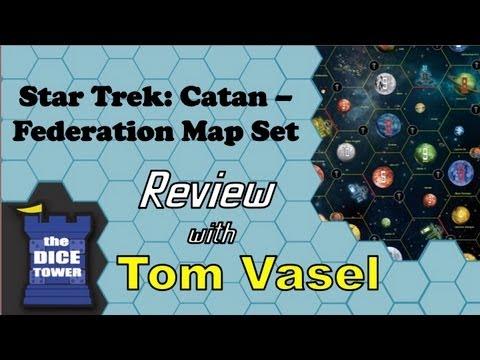 star trek catan federation space map set review with tom vasel youtube. Black Bedroom Furniture Sets. Home Design Ideas