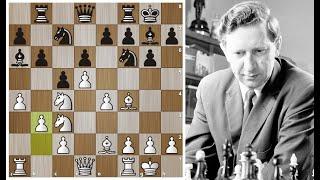 Василий Смыслов яркой комбинационной игрой громит Шмида в 23 хода! Шахматы.