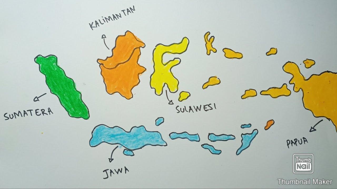 Skala peta merupakan sebuah bagian dari peta yang menunjukkan sebuah ukuran perbandingan. Cara Menggambar Peta Indonesia Lengkap Youtube