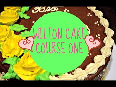 "Wilton Cake Class - Course 1 ""Decorating Basics"""