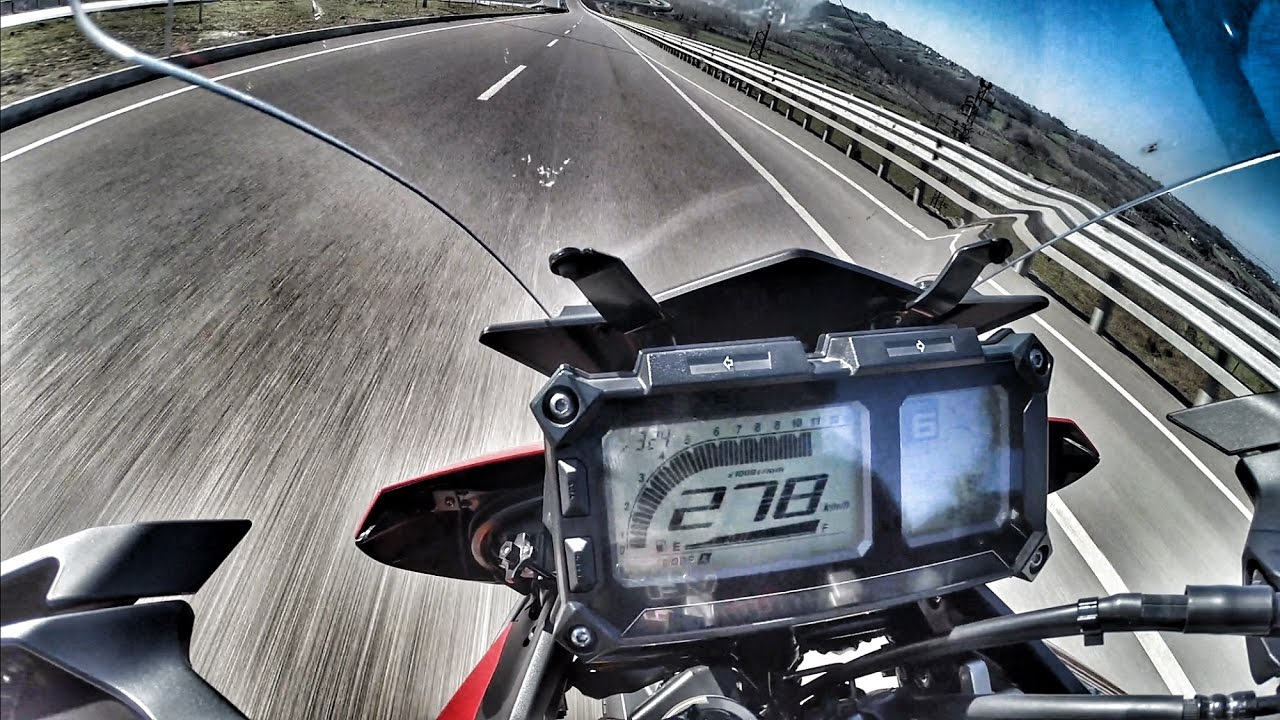 MT09 Tracer vs R6 Ecuflash Top Speed +270km bathuR1 Vlog #125