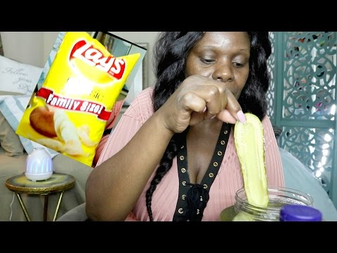 Chips ASMR Ramble Pickle Snack Lays👅 TBH