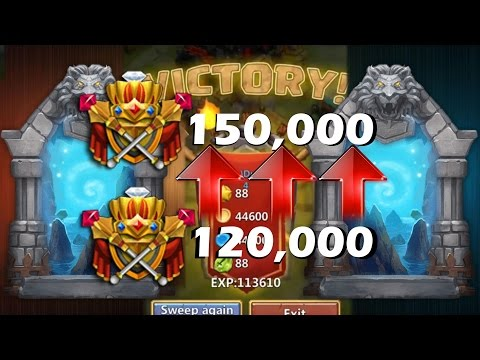 3 Flaming Last Dungeon And Gaining 30,000 Might Super Fast Castle Clash