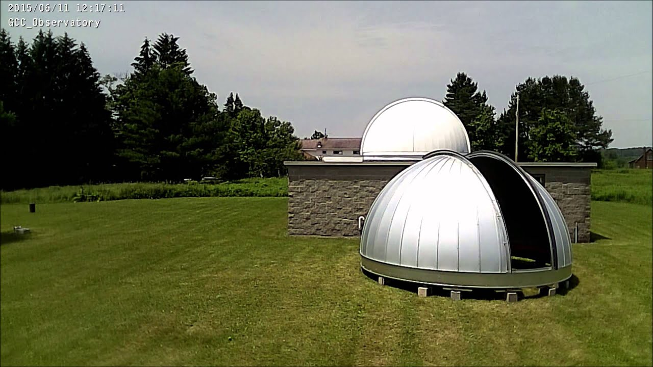 time lapse of ash dome assembly at grove city college observatory