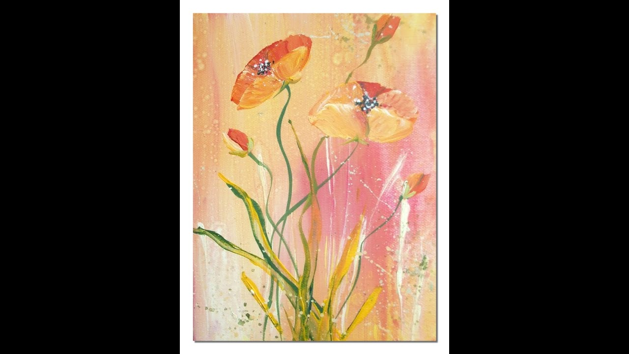 Youtube Painting Poppies Acrylic