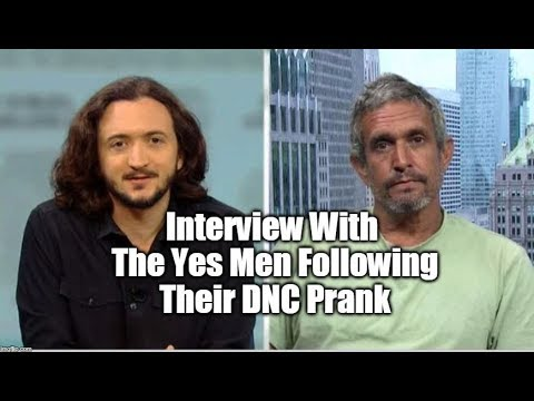 Interview With The Yes Men Following Their DNC Prank