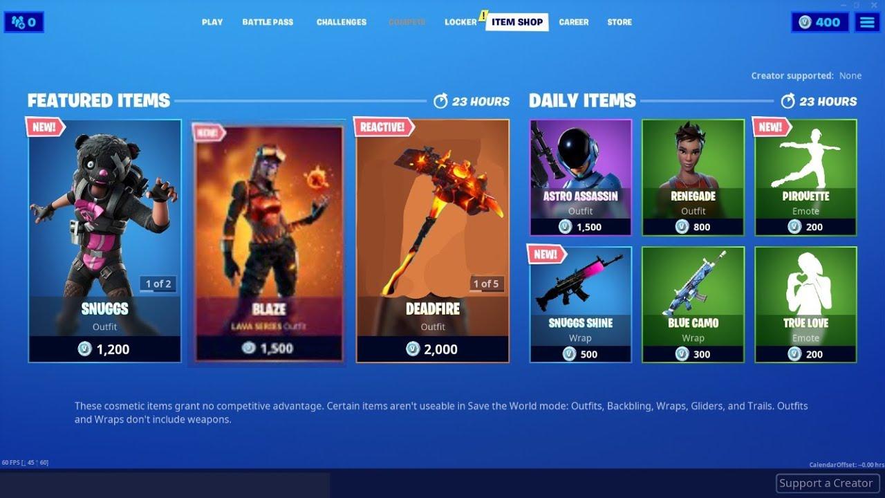 Fortnite Item Shop Update Blaze is Coming Back? - YouTube