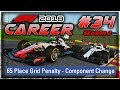 F1 2018 Career Mode Part 34: 65-PLACE GRID PENALTY! MAJOR ELECTRICAL FAULT!