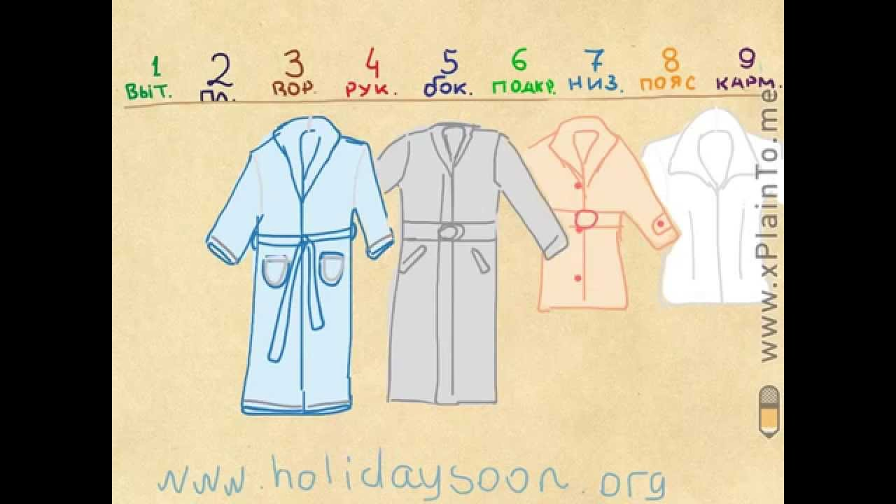 Махровый халат с вышивкой - YouTube