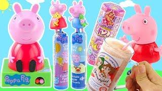 粉紅豬小妹糖果機變趣味可樂食玩和星座項鍊盒玩