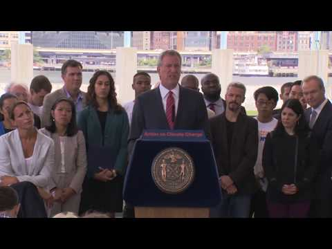 Mayor de Blasio Makes Announcement on City Efforts to Curb Climate Change