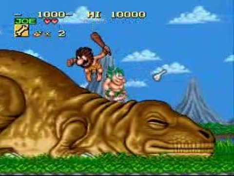 Caveman And Dinosaurs : Joe mac caveman ninja snes youtube