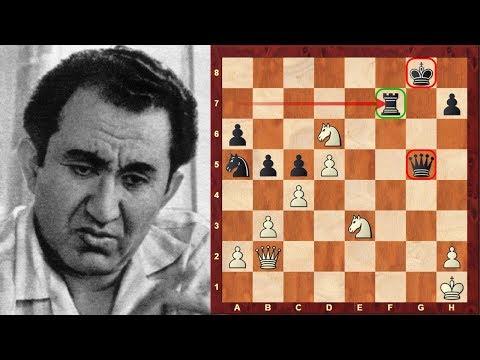 Tigran Petrosian's Immortal Chess Game vs Spassky - Hijacking diagonals! Queen Sac! - Brilliancy!