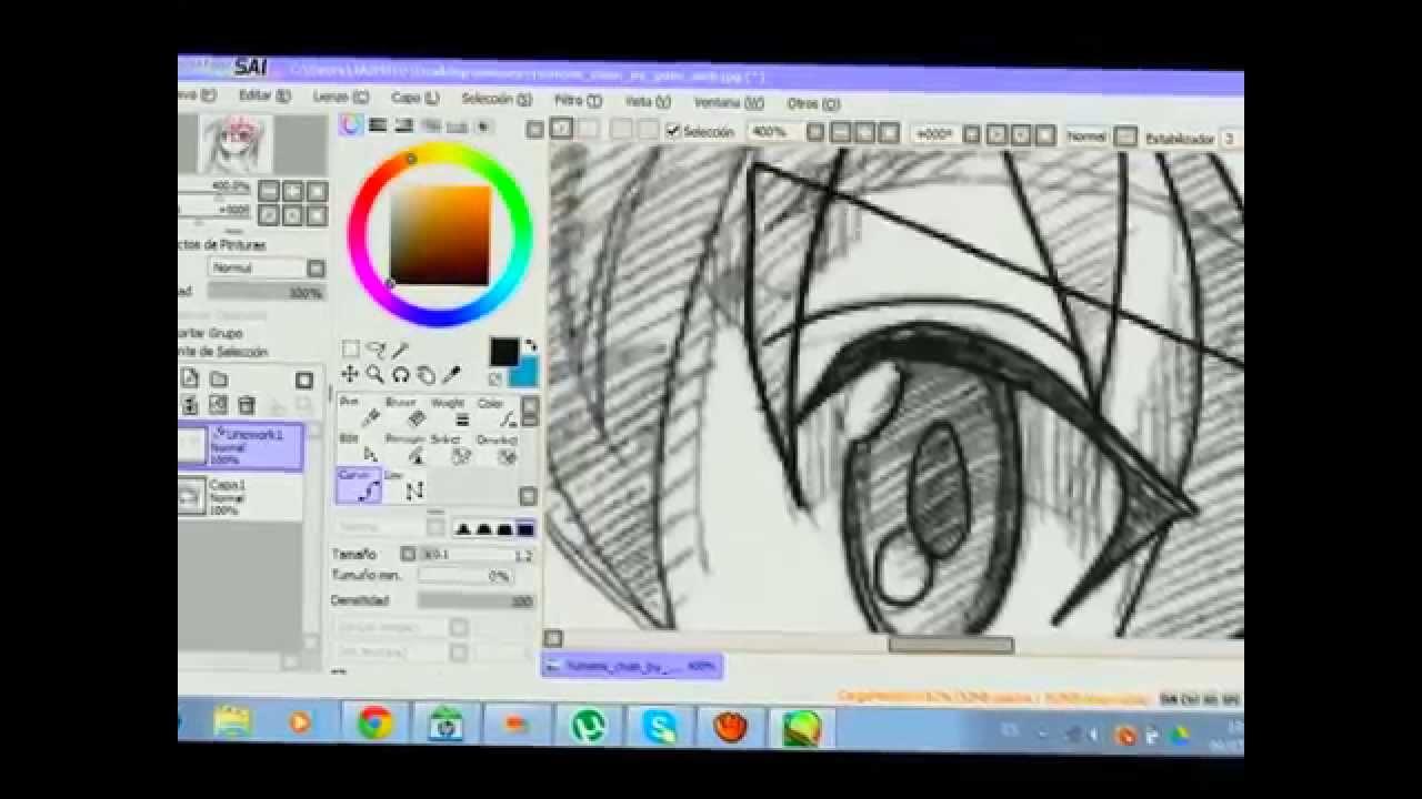 dibujando en paint tool sai programa para dibujar anime