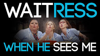 waitress the musical   when he sees me hd lyrics on screen