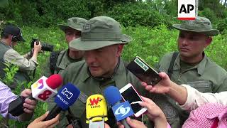 Colombia police test new devices to combat cocaine production