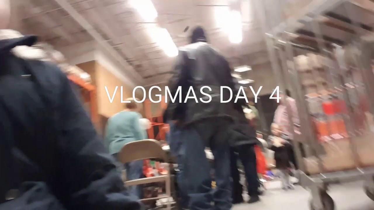 VLOGMAS DAY 4 DIY AT HOME DEPOT GIAs Birthday Party