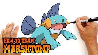 How to Draw Marshtomp | Pokemon