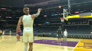Lakers Center Dwight Howard Practicing & Draining 3-Pointers After Loss To Raptors