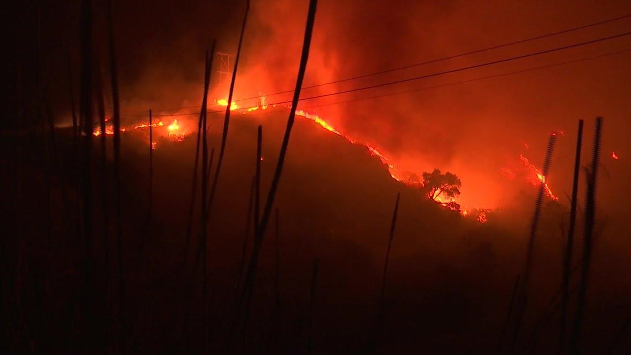 101 Fwy closed north of Santa Barbara as Alisal Fire grows to 6000 ...