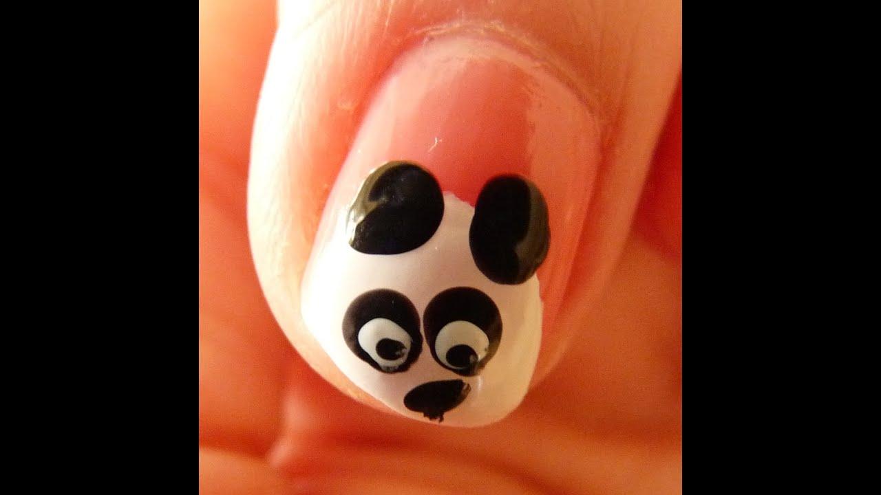 Decorado de u as de oso panda youtube for Decorado unas