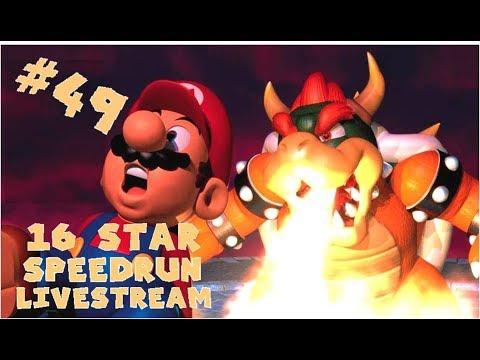 SUPER MARIO 64 16 STAR SPEEDRUN LIVESTREAM 49! (SUB 18 GOAL)