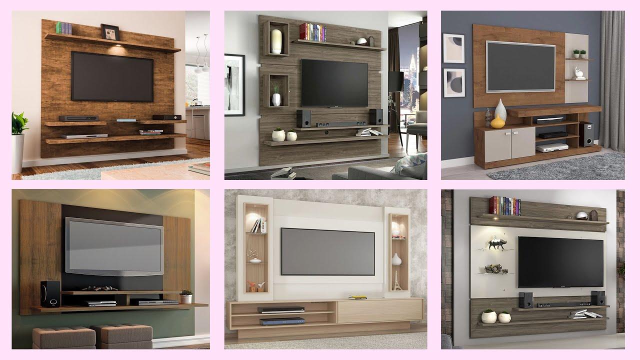 10+ Wooden TV Wall Unit/TV Wall Mount Designs & Ideas 📺📺📺